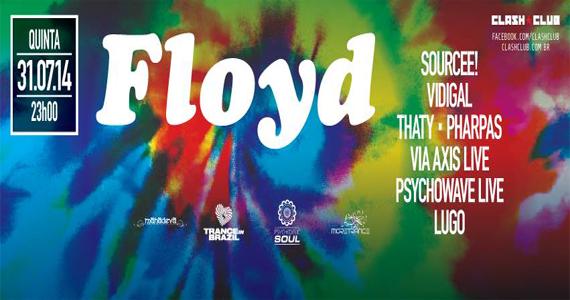 Festa Floyd com line-up especial nesta quinta-feira na Clash Club Eventos BaresSP 570x300 imagem