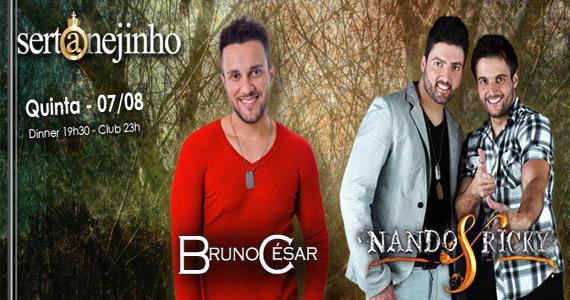 Projeto Sertanejinho com Bruno César e Nando & Ricky no Club A São Paulo Eventos BaresSP 570x300 imagem
