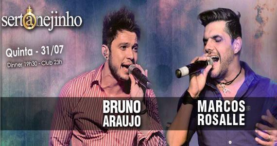Projeto Sertanejinho com Bruno Araujo e Marcos Rosalle animando a quinta do Club A São Paulo Eventos BaresSP 570x300 imagem