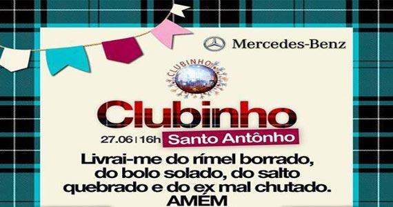 La Luna apresenta Festa  Clubinho Santo Antônio muitas atrações Eventos BaresSP 570x300 imagem