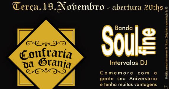 Banda Soul Fine agita a véspera de feriado na Confraria da Granja Eventos BaresSP 570x300 imagem