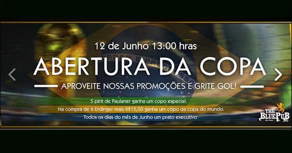 The Blue Pub prepara programação especial para a abertura da copa Eventos BaresSP 570x300 imagem