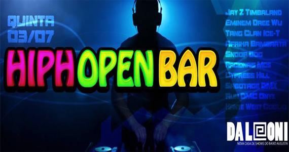 Projeto Hip Hopen Bar com DJs convidados animam a noite de quinta-feira do Da Leoni Eventos BaresSP 570x300 imagem