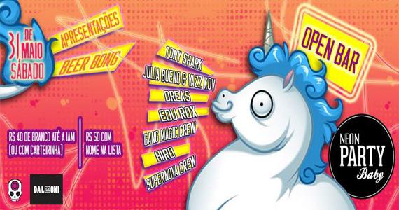 Neon Party Baby com DJs animando a noite de sábado do Da Leoni Eventos BaresSP 570x300 imagem