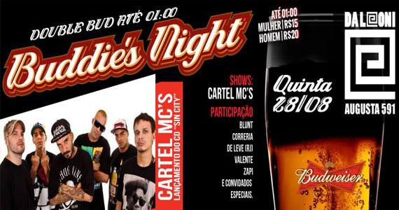Festa Buddies Night com muito rap e shows no palco do Da Leoni Eventos BaresSP 570x300 imagem