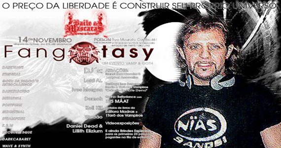 Poïson Bar e Balada oferece a festa Fangxtasy - The Vampire Fest na véspera de feriado Eventos BaresSP 570x300 imagem
