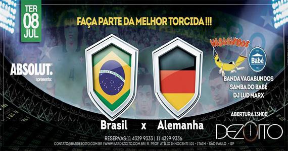 Dezoito Bar transmite jogo do Brasil com Banda Vagabundos e Samba do Babé Eventos BaresSP 570x300 imagem