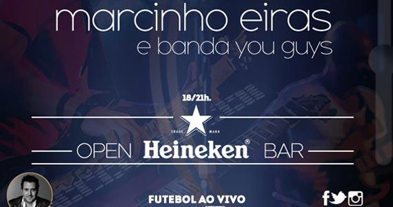 Apresentação de Marcinho Eiras e banda You Guys nesta quarta-feira no Dezoito Bar Eventos BaresSP 570x300 imagem