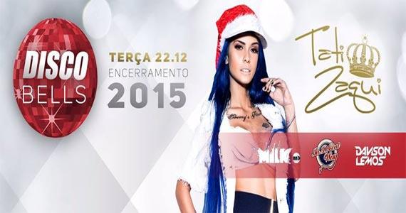 Disco Club realiza Festa Disco Bells com Mc Tati Zaqui na terça  Eventos BaresSP 570x300 imagem