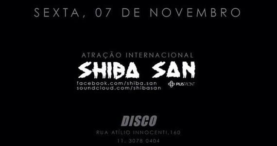 DJ Shiba San comanda a noite de reinauguração da Club Disco na sexta-feira Eventos BaresSP 570x300 imagem
