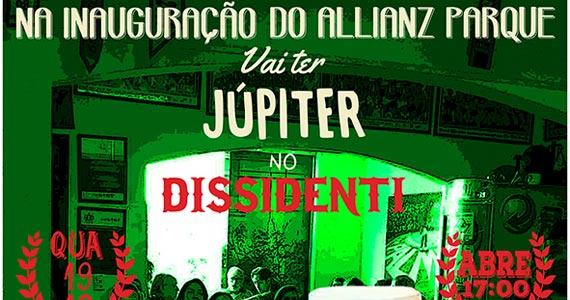Inauguração do Allianz Parque com cerveja Júpiter no Dissidenti nesta quarta-feira Eventos BaresSP 570x300 imagem