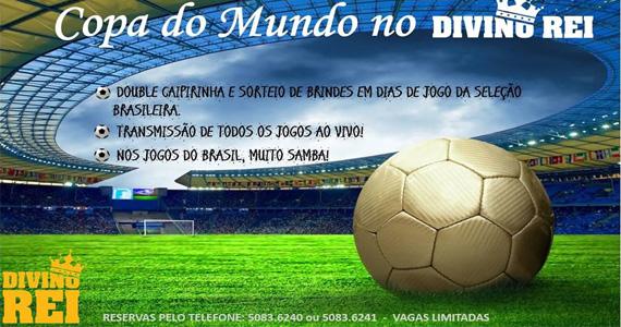 Divino Rei transmite jogos do Brasil com muito samba, Double Caipirinha e cardápio variado Eventos BaresSP 570x300 imagem