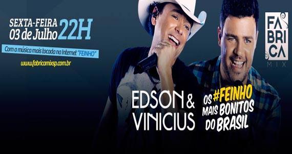 Fabrica Mix apresenta show de Edson & Vinícius e convidados na sexta Eventos BaresSP 570x300 imagem