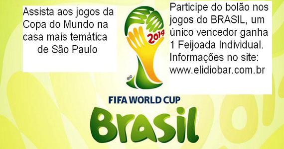 Elidio Bar transmite jogos da Copa do Mundo com bolão especial nas partidas Eventos BaresSP 570x300 imagem