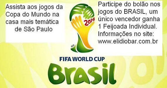 Elidio Bar transmite jogo entre Brasil x Camarões nesta segunda-feira Eventos BaresSP 570x300 imagem