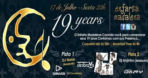 Enfarta Madalena comemora aniversário de 19 anos com programação especial Eventos BaresSP 570x300 imagem