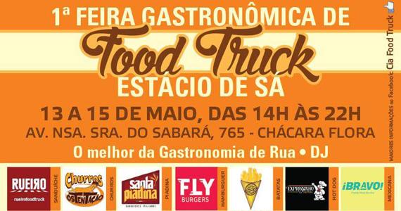 Campus de gastronomia da Estácio recebe Feira Gastronômica de Food Truck Eventos BaresSP 570x300 imagem
