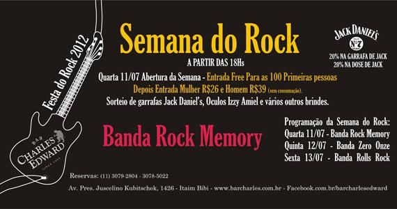 Bar Charles Edward comemora Dia Mundial do Rock com show da banda Rolls Rock Eventos BaresSP 570x300 imagem