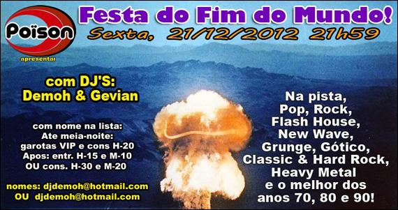 Poison embala a sexta-feira com a Festa do Fim do Mundo Eventos BaresSP 570x300 imagem