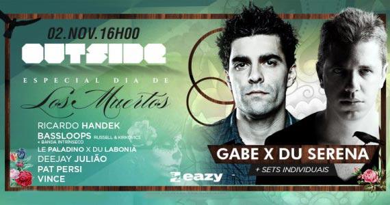 Especial Dia de Los Muertos com DJs Gabe e Du Serena neste domingo na Eazy Eventos BaresSP 570x300 imagem