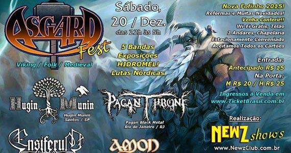 Asgard Fest com bandas de rock, exposição e lutas nórdicas no Fofinho Rock Bar Eventos BaresSP 570x300 imagem