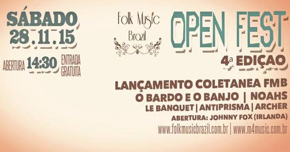 Praça Victor Civita realiza a 4ª Edição do Folk Music Brazil Open Fest Eventos BaresSP 570x300 imagem