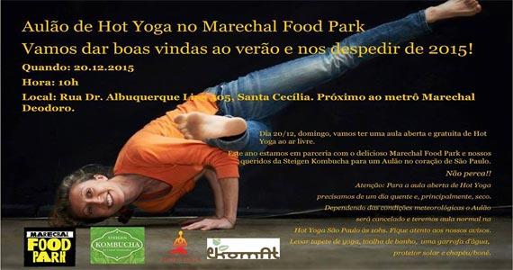 Marechal Food Park realiza Aula de Yoga e muitas atrações no domingo Eventos BaresSP 570x300 imagem