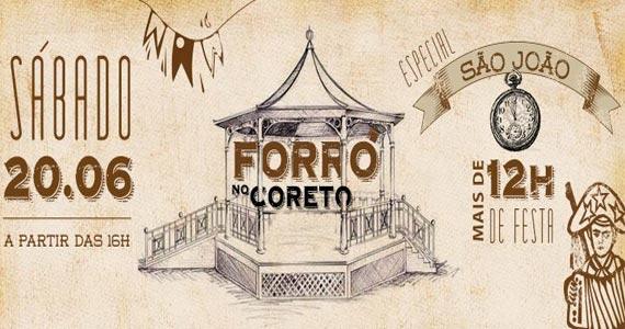 Centro Cultural Rio Verde realiza o Forró do Coreto com muitas atrações Eventos BaresSP 570x300 imagem