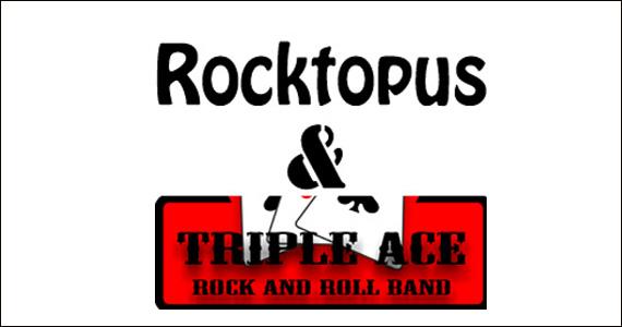 Os sucessos da banda Rocktopus & Triple Ace no Gillans  Eventos BaresSP 570x300 imagem