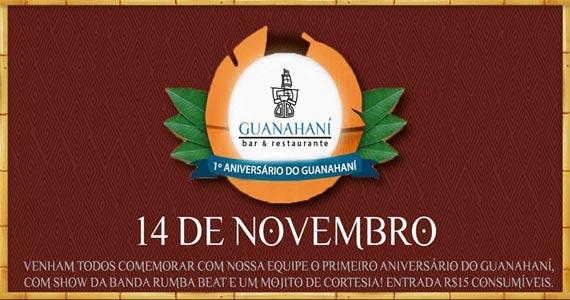 Guanahaní comemora 1º aniversário com show da banda Rumba Beat Eventos BaresSP 570x300 imagem
