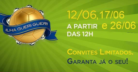 Jogos do Brasil na copa do Mundo com Banda Gueri Gueri no Ilha das Flores Eventos BaresSP 570x300 imagem