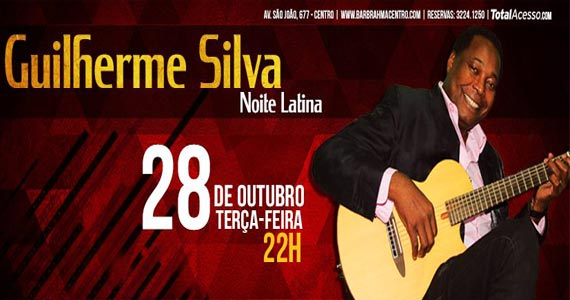 Aproveite a Noite Latina nesta terça-feira no Bar Brahma com Guilherme Silva Eventos BaresSP 570x300 imagem