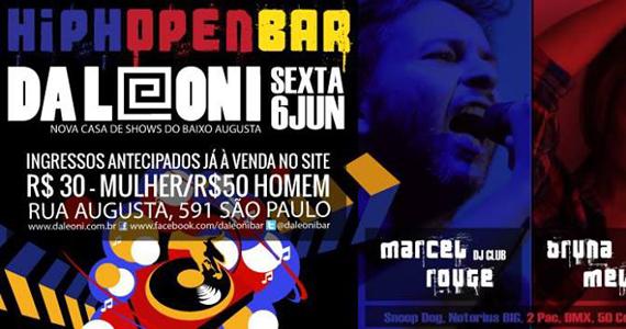 Da Leoni Bar e Danceteria recebe a festa HIPHOpen Bar nesta sexta Eventos BaresSP 570x300 imagem