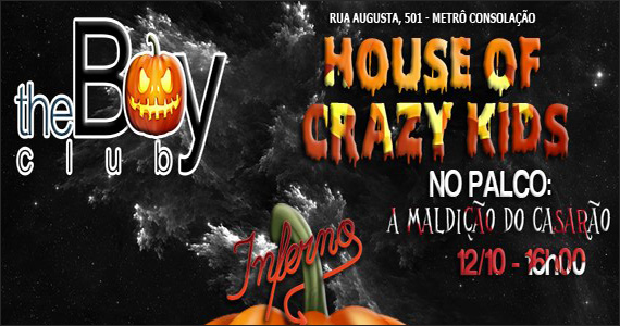 Inferno apresenta no sábado a noite House Of Crazy Kids com programação especial Eventos BaresSP 570x300 imagem