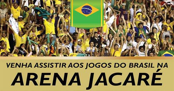 Arena Jacaré recebe torcedores para os jogos do Brasil pela Copa do Mundo no Jacaré Grill Eventos BaresSP 570x300 imagem