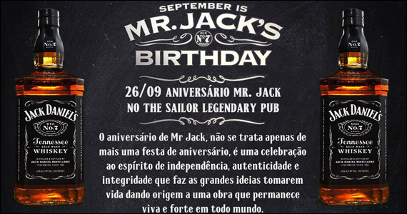 The Sailor apresenta MR. Jack's Birthday com a banda Junkie Box - Rota do Rock Eventos BaresSP 570x300 imagem