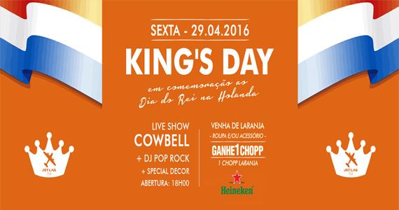 Jet Lag faz sua versão do Dia do Rei, maior festa da Holanda com banda Cowbell Eventos BaresSP 570x300 imagem