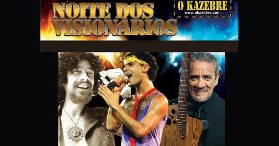Noite dos Visionários com Roberto Seixas, Cazuza cover e Edinho Ramalho sábado no O Kazebre Eventos BaresSP 570x300 imagem