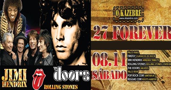 Festa 27 Forever com tributo a Jimi Hendrix, Rolling Stones e The Doors no Kazebre Eventos BaresSP 570x300 imagem