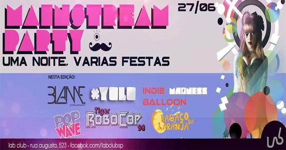 Festa Mainstream Party recebe line-up especial nesta sexta-feira no Lab Club Eventos BaresSP 570x300 imagem