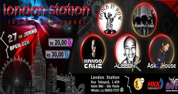 London Station reúne bandas e DJs para levantar a galera nesta sexta-feira Eventos BaresSP 570x300 imagem
