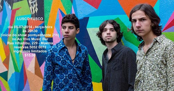 Lusco Fusco se apresenta na terça-feira no palco do Ao Vivo Music  Eventos BaresSP 570x300 imagem