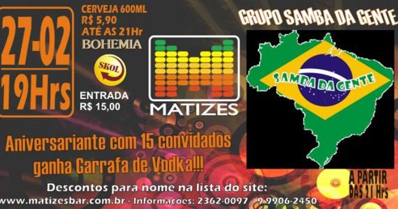 Matizes Bar recebe os agitos do Grupo Samba da Gente  Eventos BaresSP 570x300 imagem