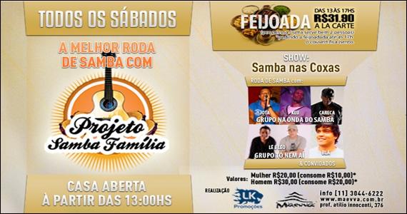 Maevva Bar apresenta na tarde de sábado o Projeto Samba Família Eventos BaresSP 570x300 imagem