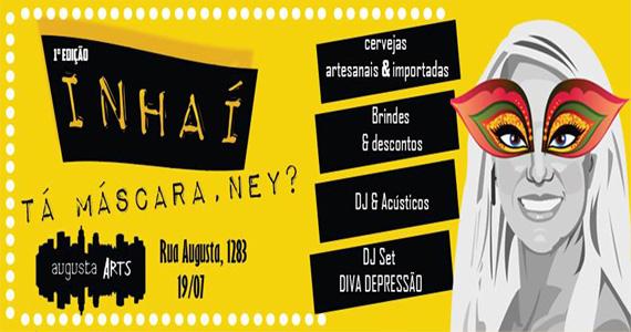 1ª edição do Nhaí, Tá Máscarada, Ney? com muitas atrações no Espaço Augusta Arts  Eventos BaresSP 570x300 imagem
