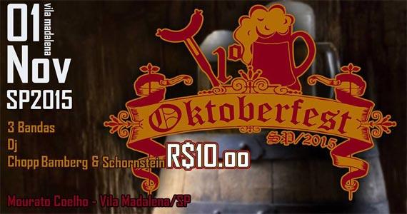 Presley Pub realiza 1º Oktoberfest na Vila Madalena no domingo Eventos BaresSP 570x300 imagem