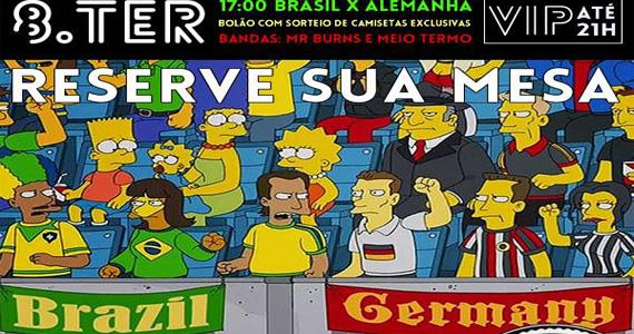 Bandas Mr. Burns e Meio Termo e transmissão da semifinal da Copa do Mundo no Ozzie Pub Eventos BaresSP 570x300 imagem