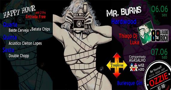 Banda Hardwood, Mr. Burns e DJs da 89 FM agitam o Ozzie Pub Eventos BaresSP 570x300 imagem