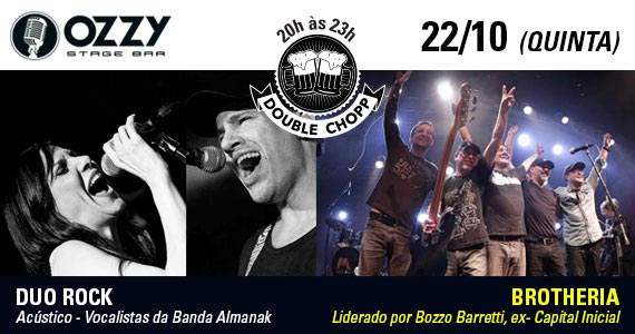 Bandas Brotheria e Duo Rock agitam a noite de quinta com pop rock no Ozzy Stage Bar Eventos BaresSP 570x300 imagem