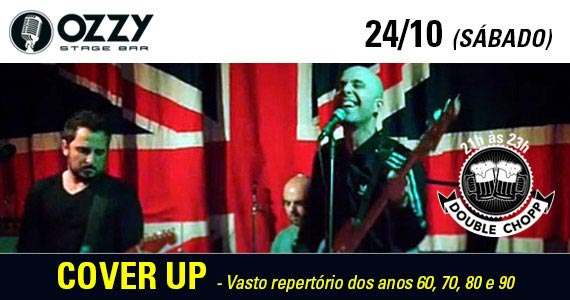 Banda Cover Up comanda o sábado no Ozzy Stage Bar Eventos BaresSP 570x300 imagem